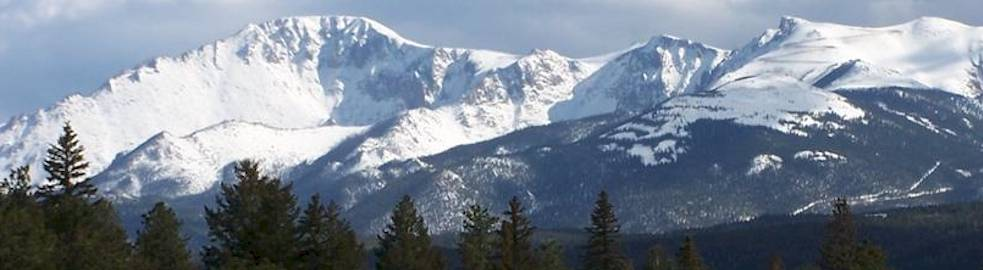View of Pikes Peak from Woodland Park